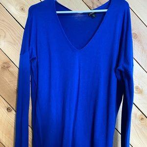 Express blue v neck sweater